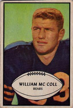 1953 Bowman #12 Bill McColl