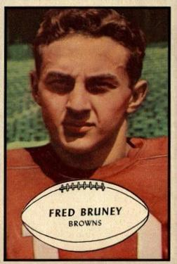 1953 Bowman #49 Fred Bruney SP RC