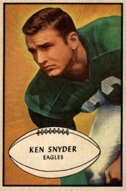 1953 Bowman #55 Kenneth Snyder SP