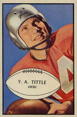 1953 Bowman #56 Y.A.Tittle