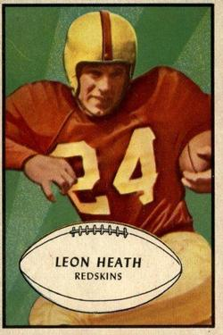1953 Bowman #63 Leon Heath
