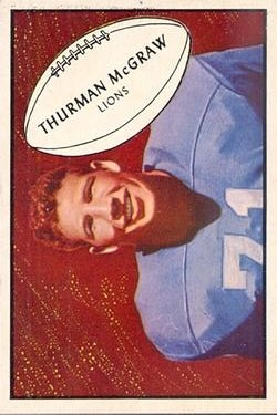1953 Bowman #71 Thurman McGraw