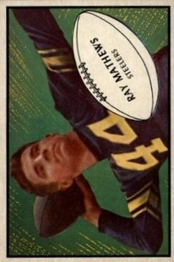 1953 Bowman #78 Ray Mathews