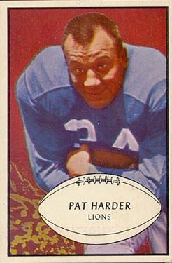 1953 Bowman #81 Pat Harder SP