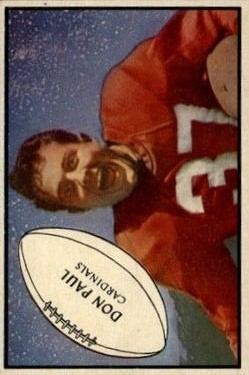 1953 Bowman #90 Don Paul DB UER