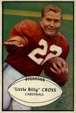 1953 Bowman #96 William Cross SP RC