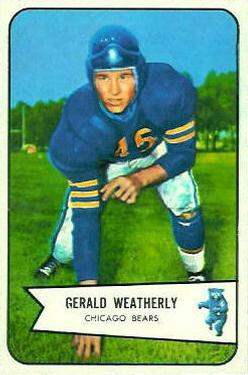 1954 Bowman #47 Gerald Weatherly