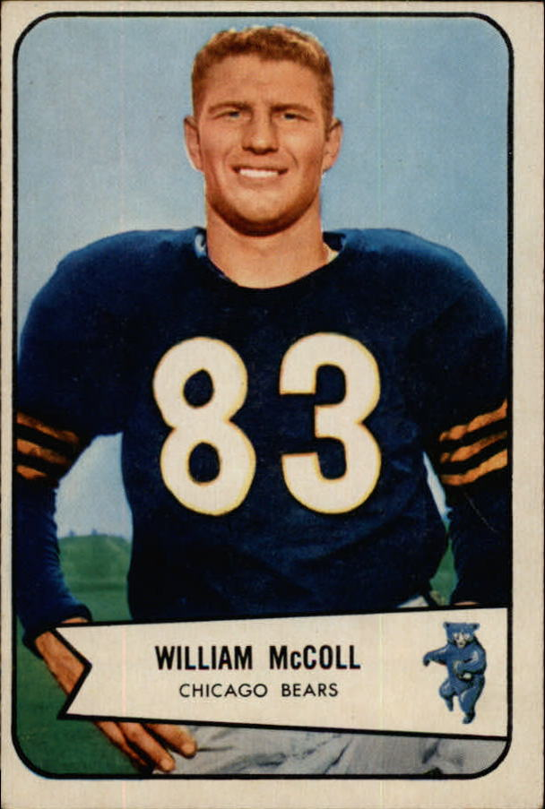 1954 Bowman #59 Bill McColl