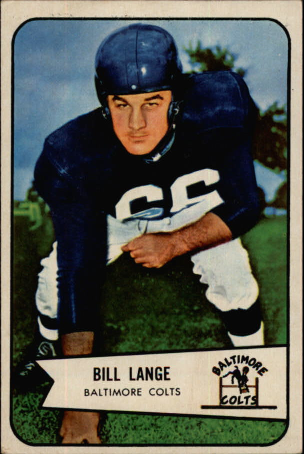 1954 Bowman #62 Bill Lange G RC