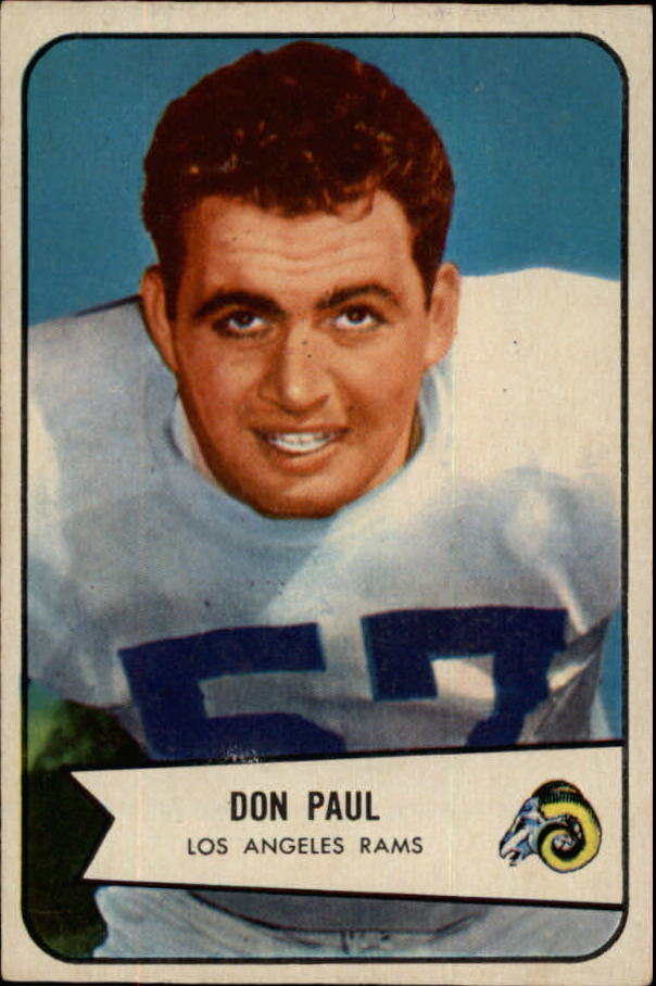 1954 Bowman #68 Don Paul LB SP
