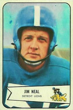1954 Bowman #75 Jim Neal SP RC