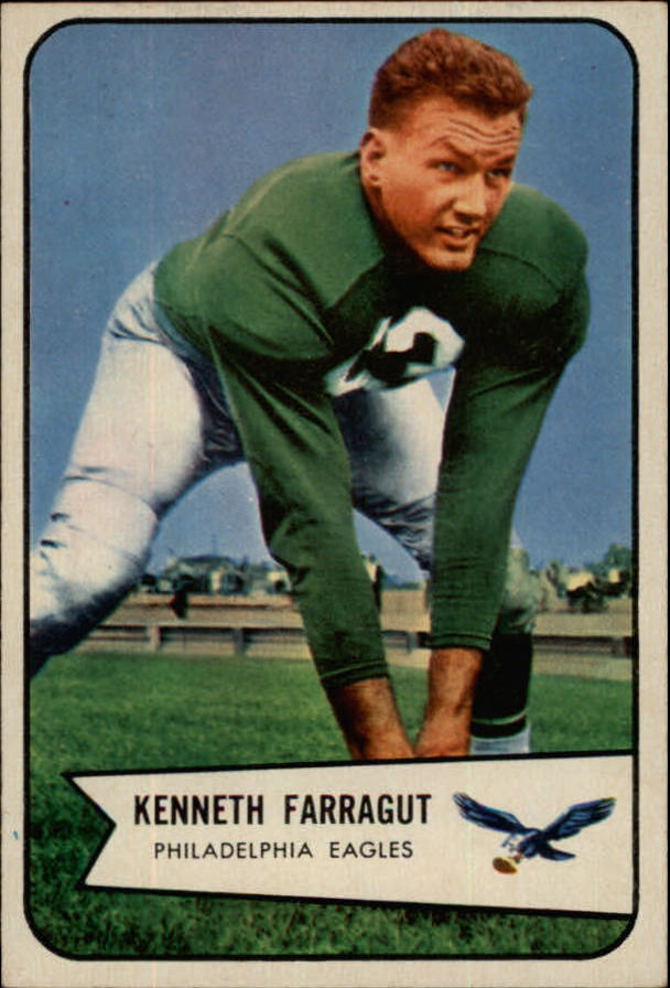 1954 Bowman #87 Kenneth Farragut SP RC