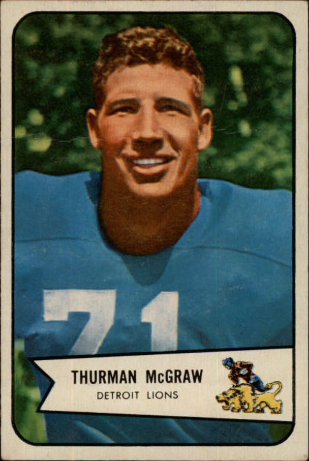 1954 Bowman #91 Thurman McGraw SP