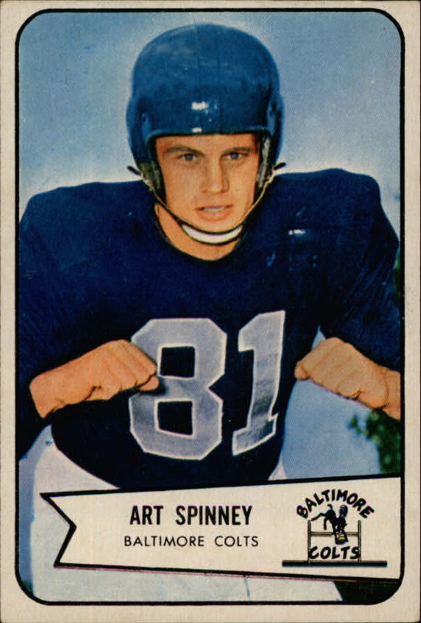 1954 Bowman #126 Art Spinney RC