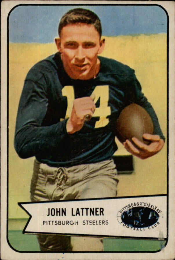 1954 Bowman #128 John Lattner RC