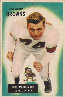 1955 Bowman #2 Mike McCormack RC
