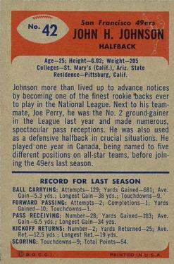 1955 Bowman #42 John Henry Johnson RC