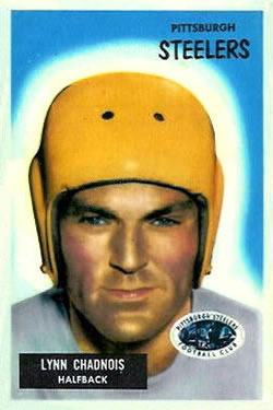 1955 Bowman #54 Lynn Chandnois