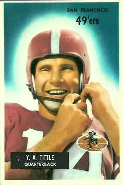 1955 Bowman #72 Y.A.Tittle