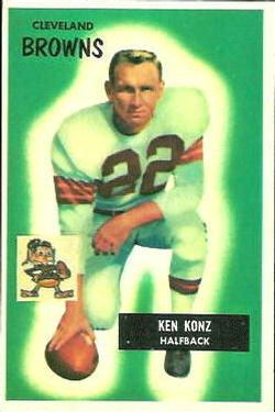 1955 Bowman #113 Kenny Konz RC