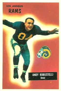 1955 Bowman #121 Andy Robustelli