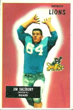 1955 Bowman #128 Jim Salsbury RC