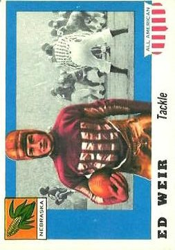 1955 Topps All American #3 Ed Weir RC