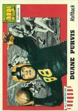 1955 Topps All American #51 Duane Purvis SP RC