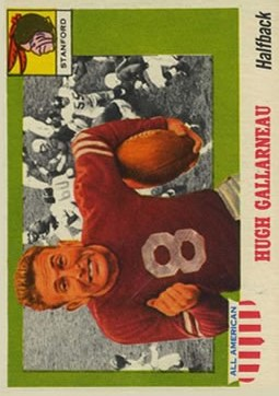 1955 Topps All American #75 Hugh Gallarneau RC
