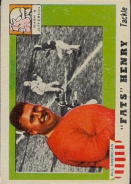 1955 Topps All American #100 Fats Henry SP RC