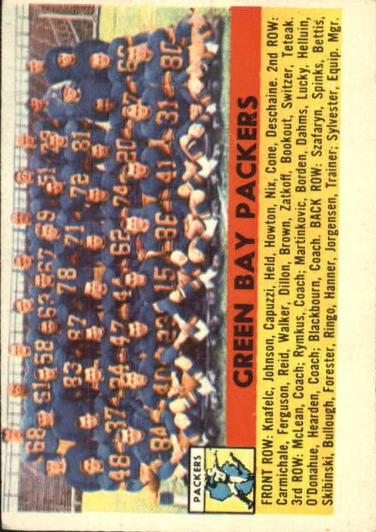 1956 Topps #7 Green Bay Packers