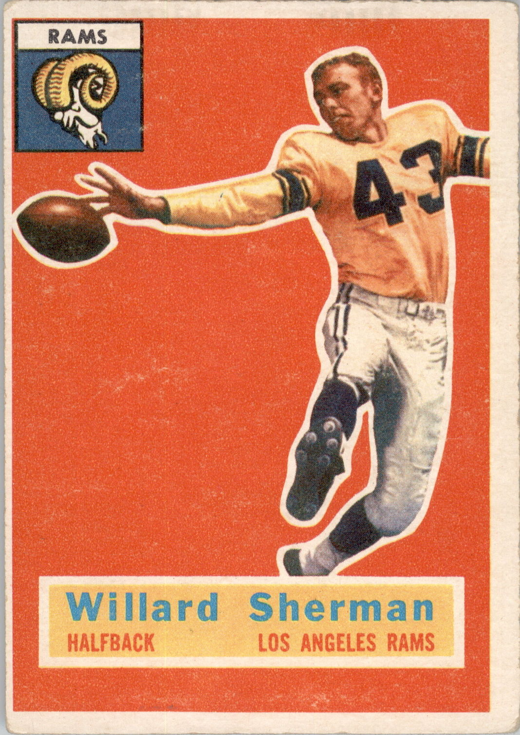 1956 Topps #66 Willard Sherman RC