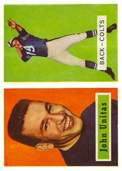 1957 Topps #138 Johnny Unitas DP RC