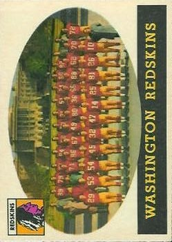 1958 Topps #27 Washington Redskins