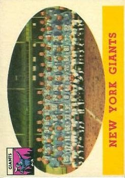 1958 Topps #61 New York Giants