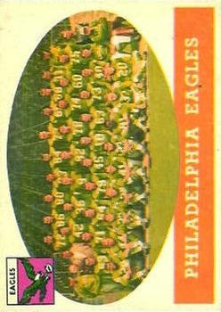 1958 Topps #109 Philadelphia Eagles