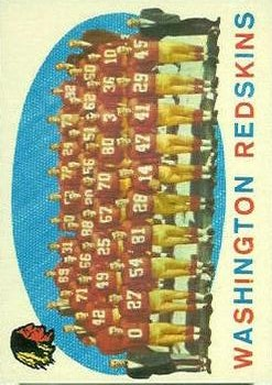 1959 Topps #91 Washington Redskins CL