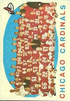 1959 Topps #118 Chicago Cardinals CL