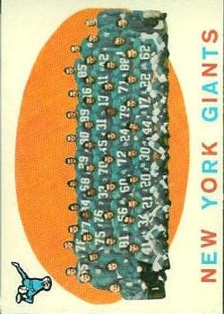 1959 Topps #133 New York Giants CL