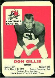 1960 Cardinals Mayrose Franks #1 Don Gillis