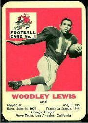1960 Cardinals Mayrose Franks #4 Woodley Lewis