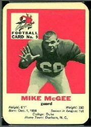 1960 Cardinals Mayrose Franks #9 Mike McGee