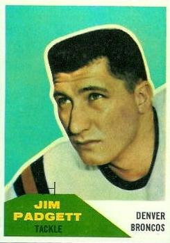 1960 Fleer #40 Jim Padgett RC