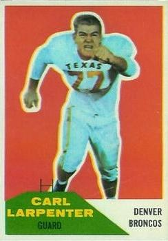 1960 Fleer #60 Carl Larpenter RC