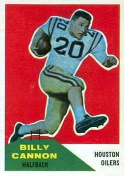 1960 Fleer #66 Billy Cannon UER RC