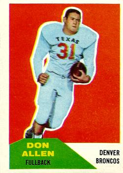 1960 Fleer #82 Don Allen RC
