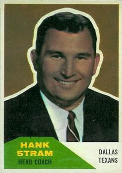 1960 Fleer #116 Hank Stram CO RC