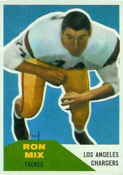 1960 Fleer #118 Ron Mix RC