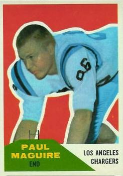 1960 Fleer #128 Paul Maguire RC
