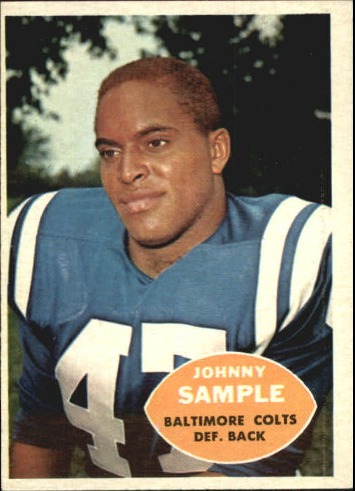 1960 Topps #9 Johnny Sample RC